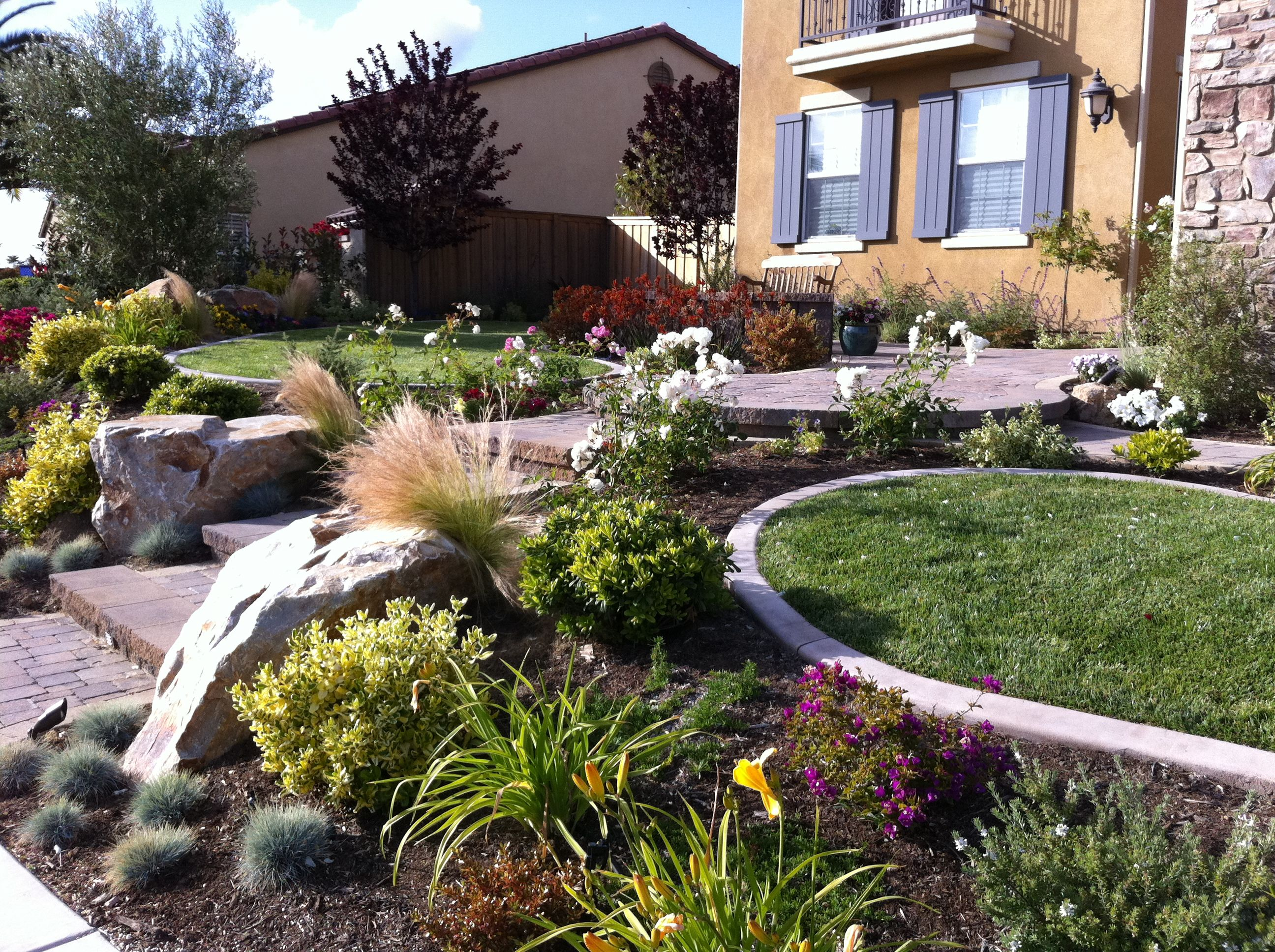 Beautiful And Colorful Garden Landscape San Diego Front Yard
