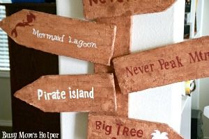 DIY Pirate Sign On A Budget - Busy Mom's Helper