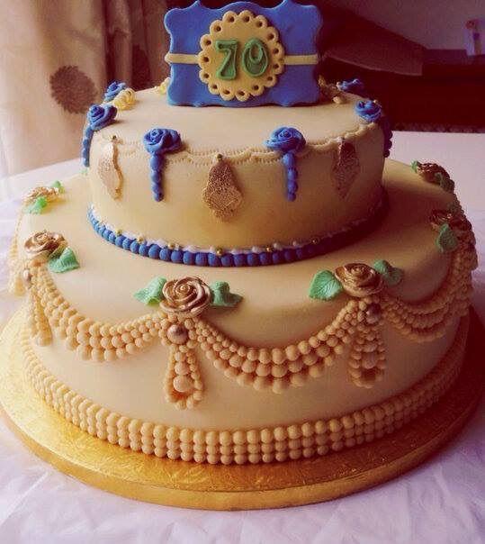 70th Birthday Cake by Dainty Bites httpdaintybitescouk