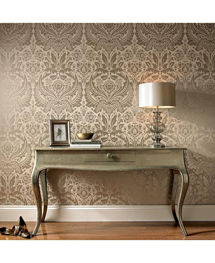 Gold Damask Wallpaper, Damask Wallpaper, Room Wallpaper