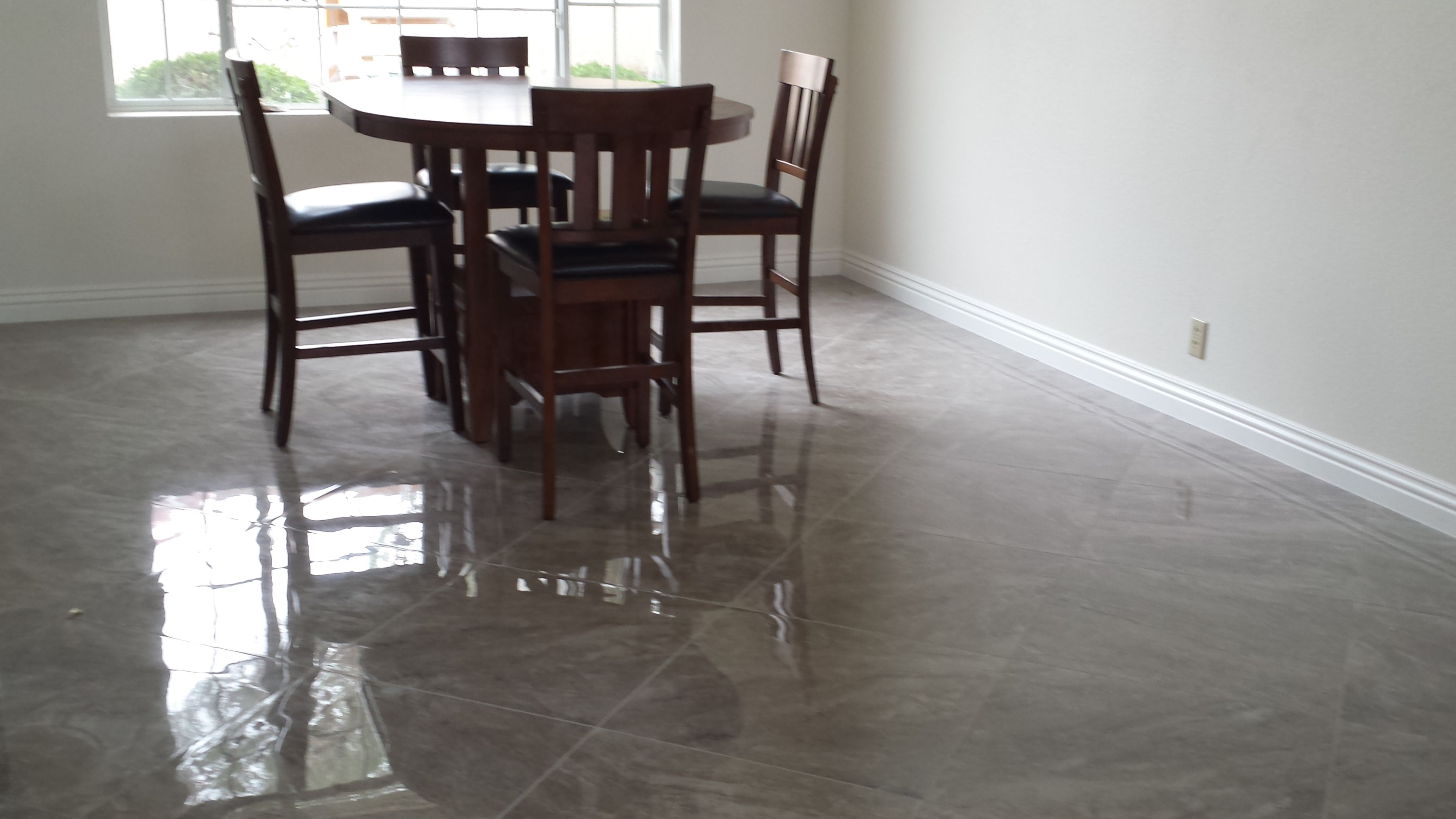 Dining room installed by Affordable Flooring & More using 20x20 high ...
