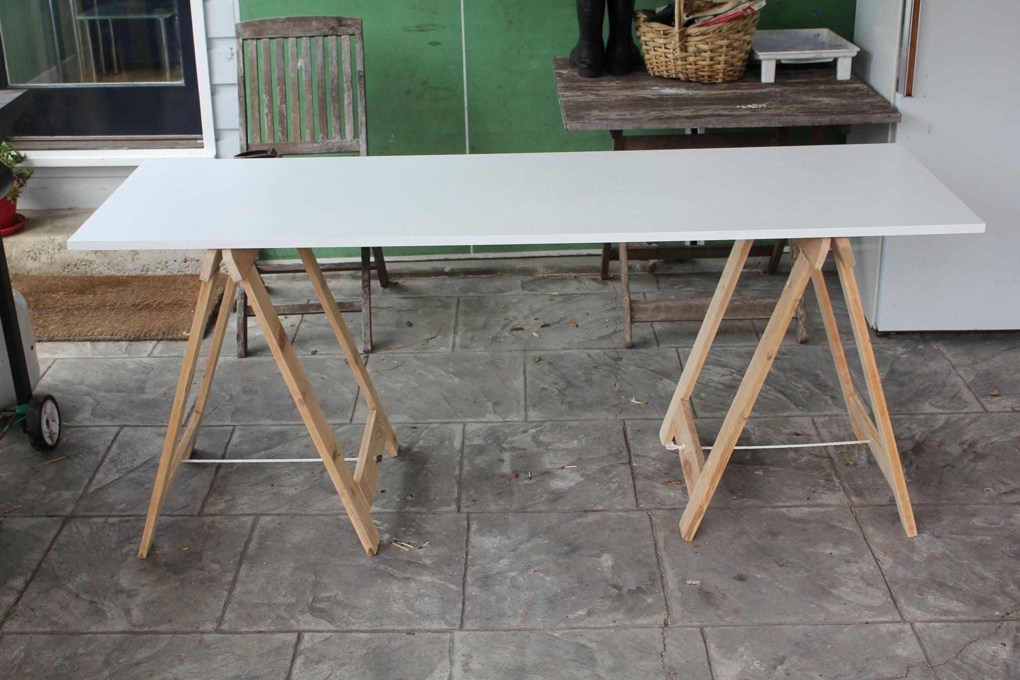 Diy Trestle Table Tables Great Ideas Legs Sun Room Display