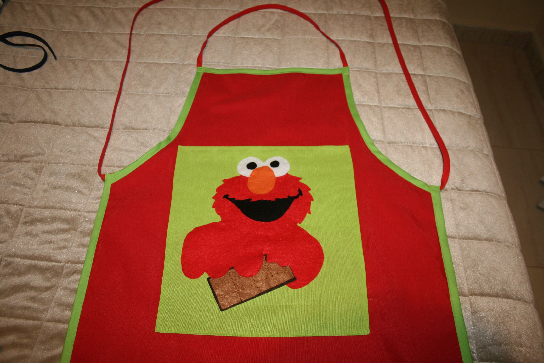 Delantal muppets hecho a mano