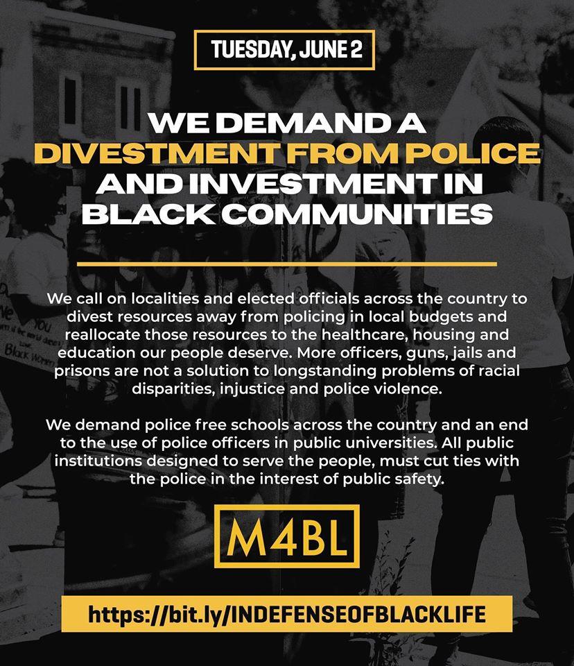 Defund Police Put The Funds Into Black Communities Jane Fonda Black Community Investing Police