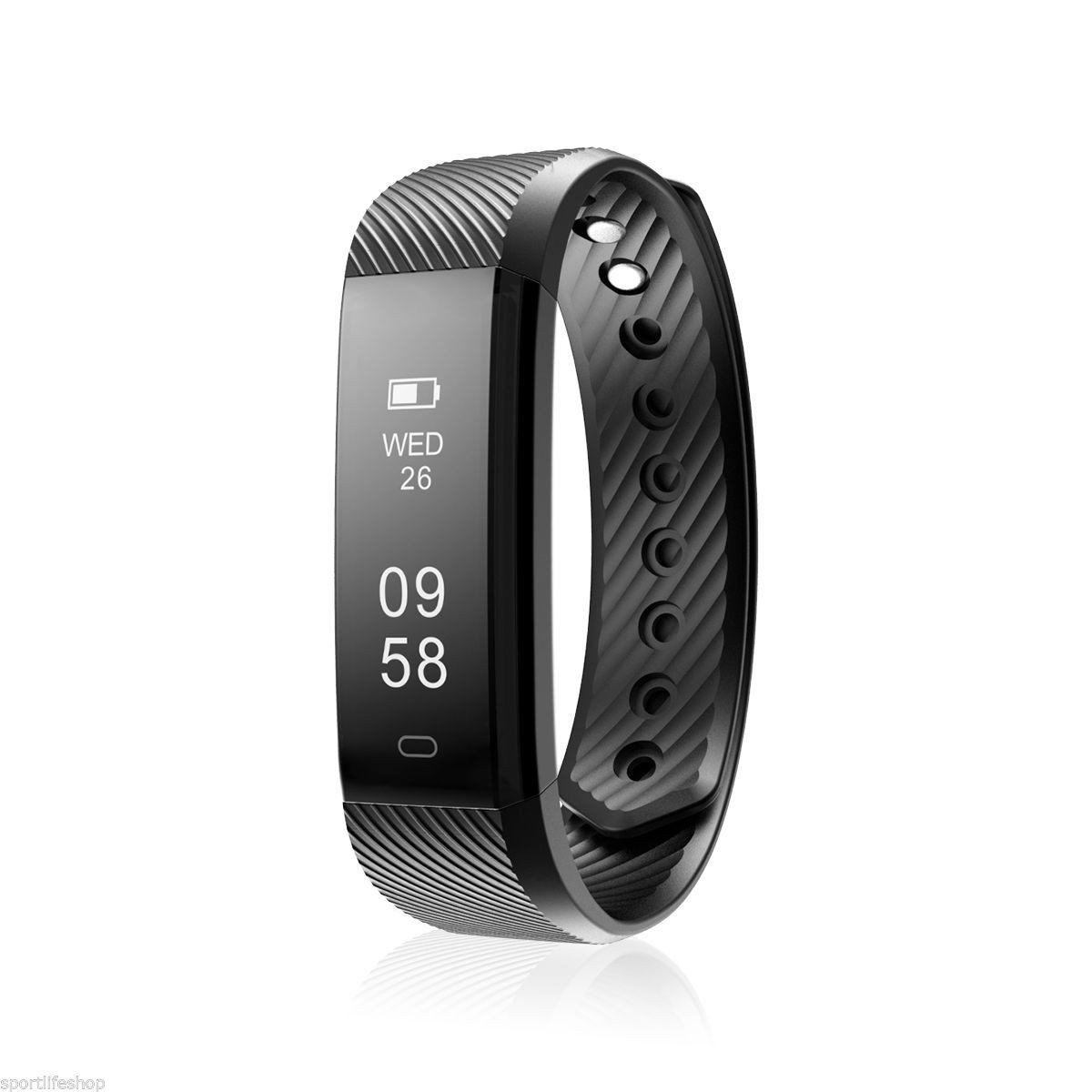 ID115HR Bluetooth Smart Bracelet the Fitness Tracker Heart