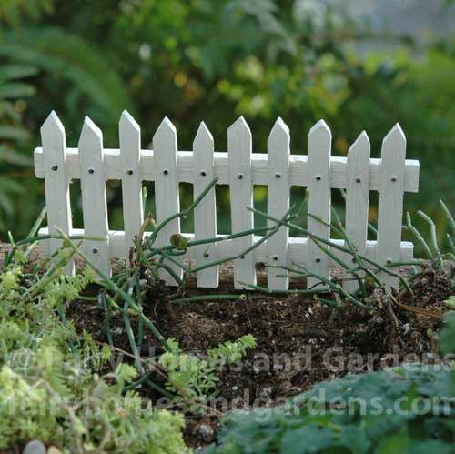 Merriment White Picket Fence. Miniature Fairy GardensMiniature ...