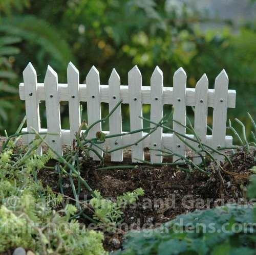 Merriment White Picket Fence. Miniature Fairy GardensMiniature ...