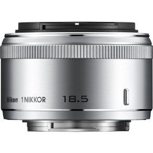 Nikon 1 NIKKOR 18.5mm f/1.8 (Silver) by Nikon. $186.95. From the Manufacturer                                                                                                                                                                                                                                            Shoot in the dimmest lighting conditions without a flash or softly blur the backgrounds of your photos and videos with the first f/1.8 lens in the 1 NIKKOR lineup. ...