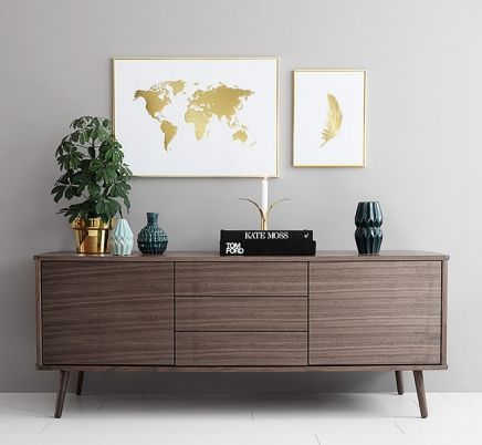 Scandinavian interior design and style Nordic decor Gold world map - copy world map poster the range