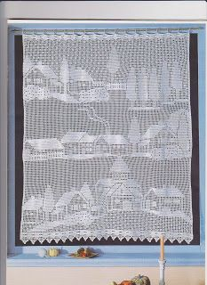 fileth keln gardine landschaft filet crochet curtain h keln gardinen crochet curtain. Black Bedroom Furniture Sets. Home Design Ideas
