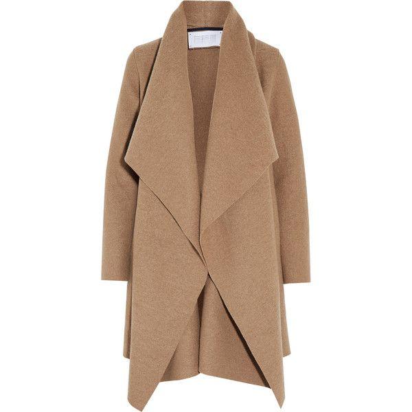 Harris Wharf London Shawl-collar wool coat ($435) ❤ liked on ...