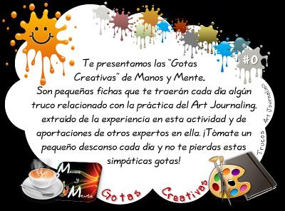 Gotas creativas de Manos y Mente #artjournal