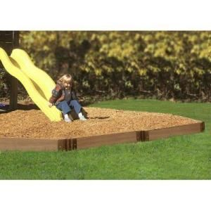 Frame It All 16 Ft Playground Border Kit Pbk 16 Wgt The Home Depot Playground Mulch Landscape Timbers Backyard Playground