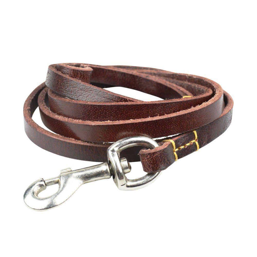 Leather Dog Leash Caillu Leather Dog Training Leash 6 Ft Length X