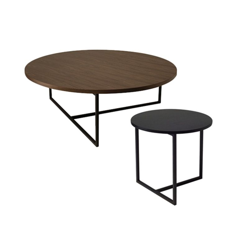 Felicity Coffee Table Walnut Matt Black With Felicity Round Side Table Black Ash Coffee Table Black Side