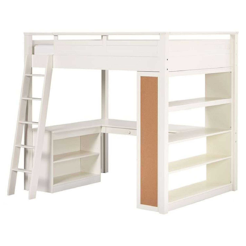 Teenage girl loft bed ideas  Pottery Barn Teen Sleep  Study Loft Bed in Satisfactory condition