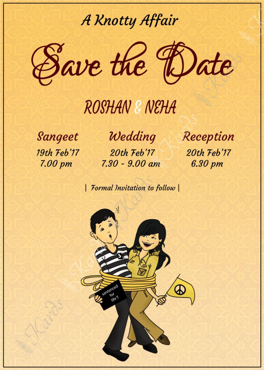 Fun, unique and creative Indian Wedding Invitation