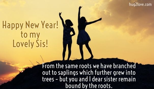 new year messages for sister