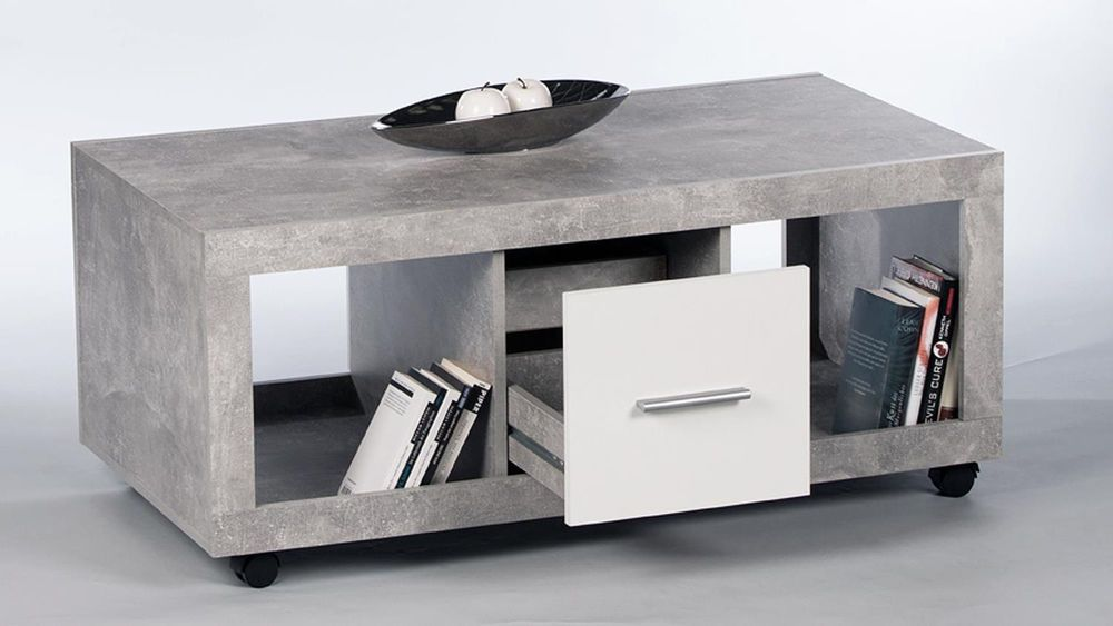 Details About Greystone Storage Coffee Table Grey And White Gloss Lounge Furniture 2701 Coffee Table With Storage Coffee Table White Coffee Table With Drawers