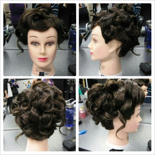 1800s updo hairstyle in 2019
