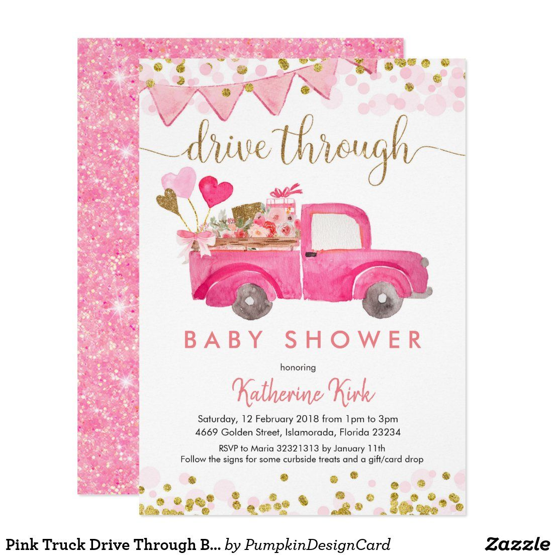 Drive By Baby Shower Poster Ideas