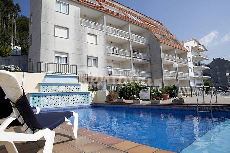 Piscina Y Garaje A 300 M De La Playa Pontevedra Casas Con Piscina Apartamentos Casas