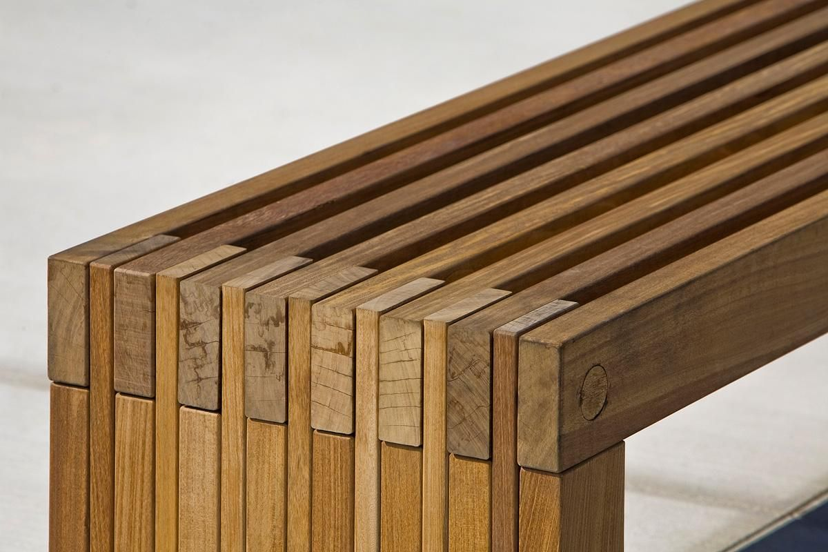Hudson Bench with FSC® 100% Ipé hardwood slats