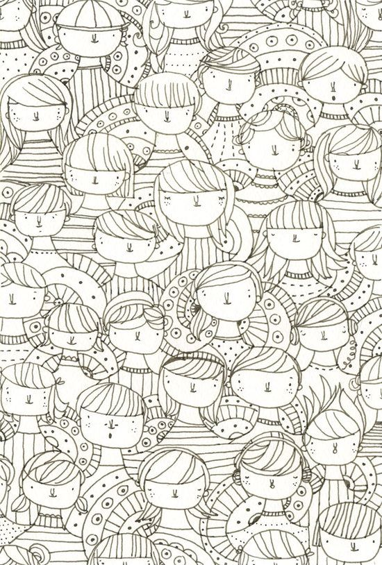 caras | Ilustraciones, Colorear y Dibujo