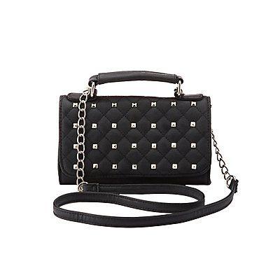 9a5be9f2b1b1 Studded Crossbody Flap Bag