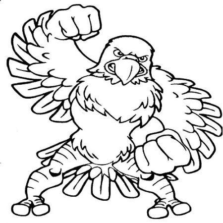 Falke Ausmalbild