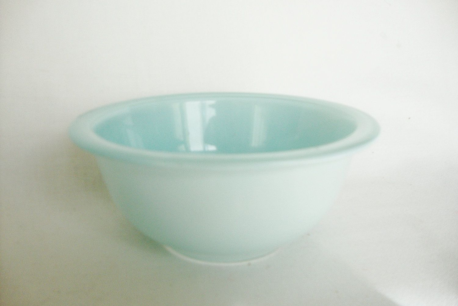 vintage pyrex nesting bowl pale aqua blue frosted glass | Wants: I ...