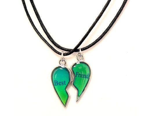 New Best Friends Mood Broken Heart Pendants 2 Necklace Bff Friendship Broken Heart Pendant Necklace Bff