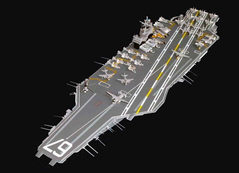 building a 1 700 scale uss john f kennedy cv 67 part 3 a1 model