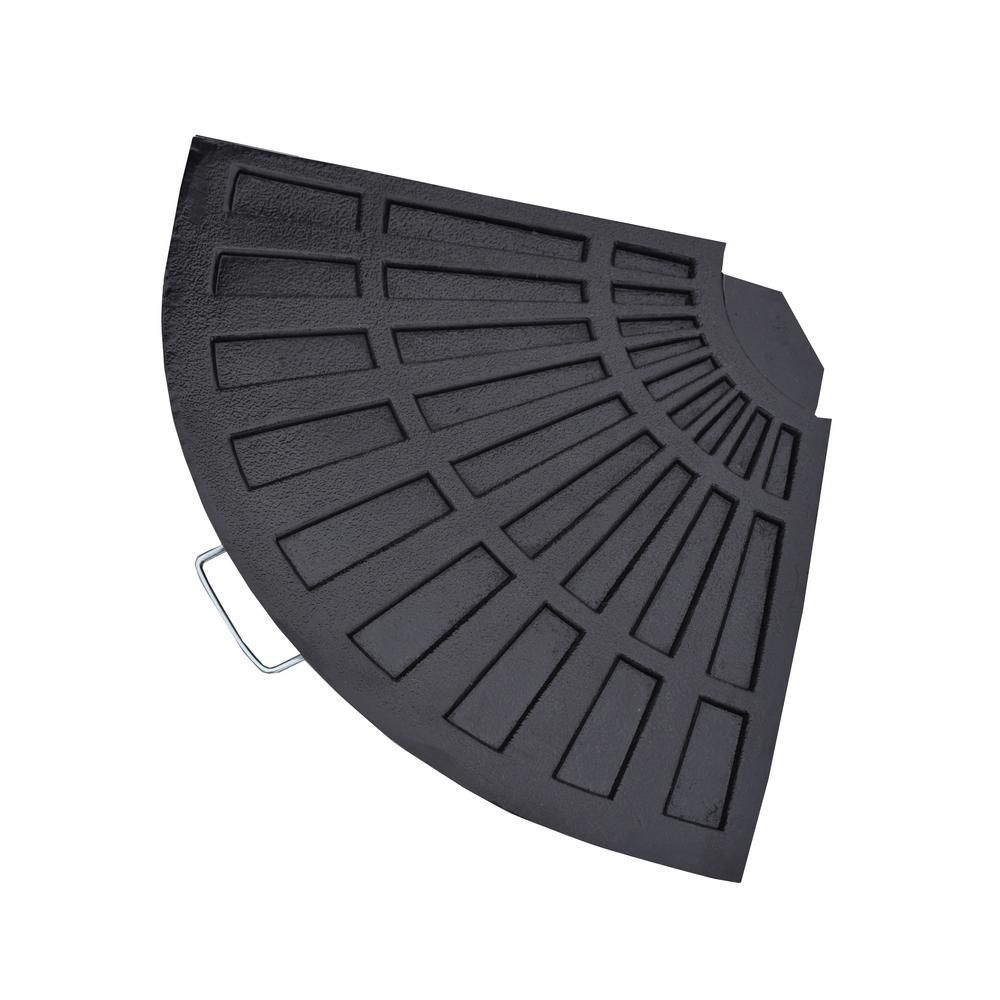 Cast Polyresin Rust-Free Fan Shape Weight for Umbrella Stand HD4226-US40-BK - The Home Depot