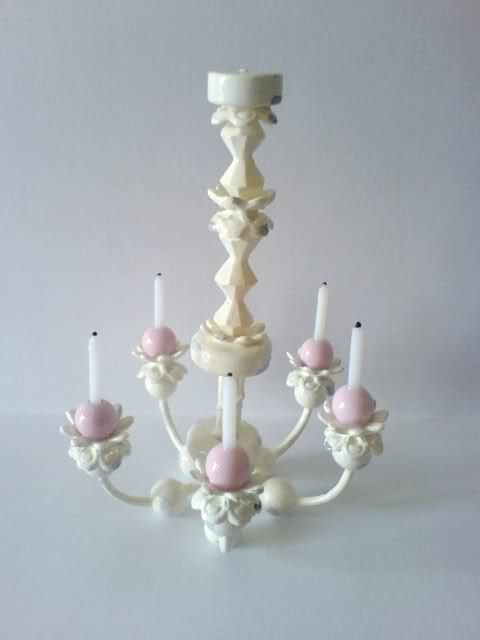 Como hacer una lmpara de araa how to chandelier not a full como hacer una lmpara de araa how to chandelier not a full tutorial but photos give a good idea of how lamp was made aloadofball Gallery