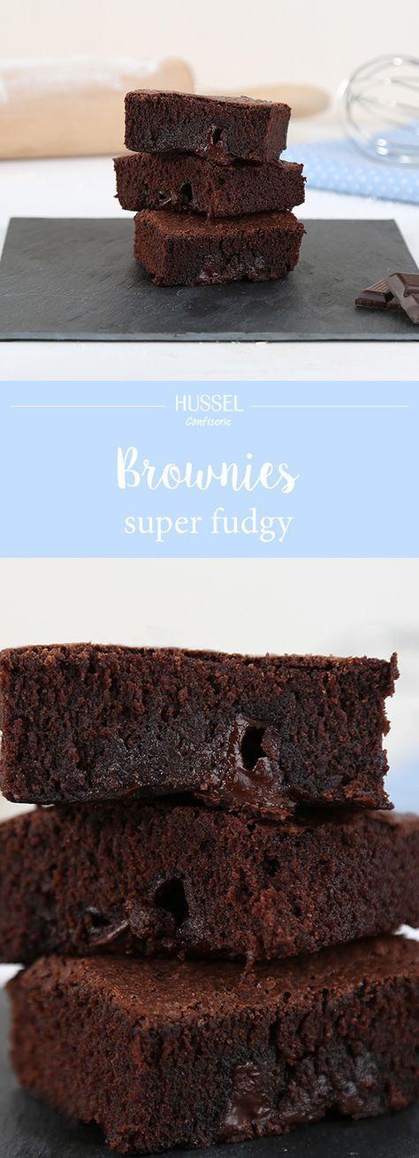 Amerikanische Super-Fudgy Brownies - Hussel Confiserie