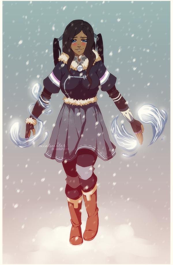 Legend of Korra OC: Nirotii outfit sample by mintwinter deviantart