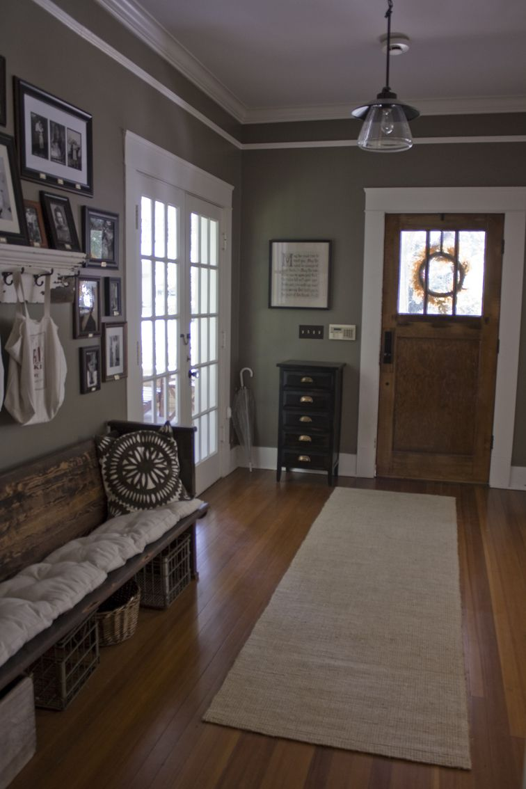 Entryway. Paint Is Java By Eddie Bauer, From Lowes. Love The Door Casing