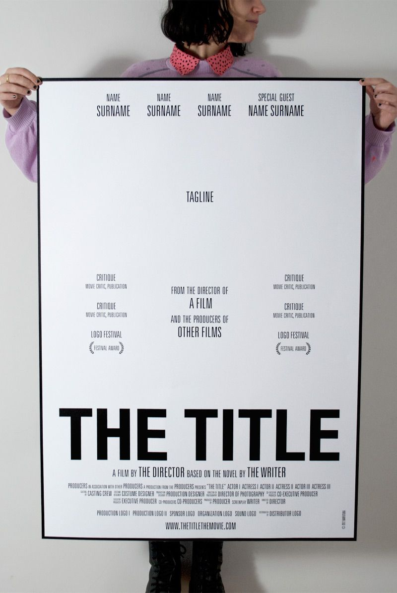 The Title. A movie poster that has everthing. I want this ...
