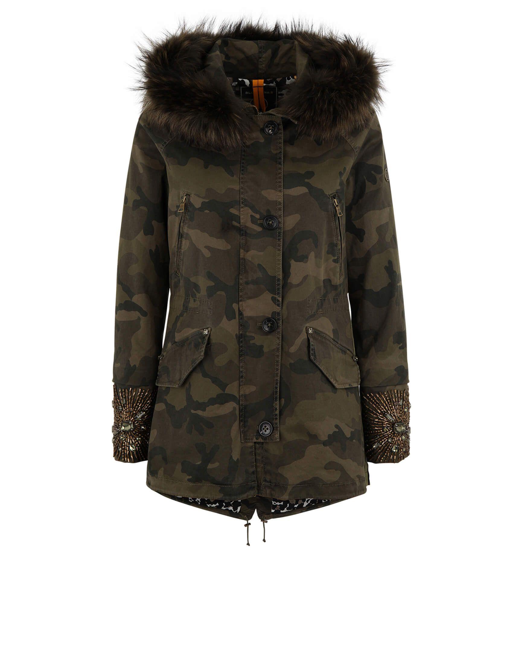 Blonde No 8 Paris 515 Real Fur Parka Camouflage Jacka
