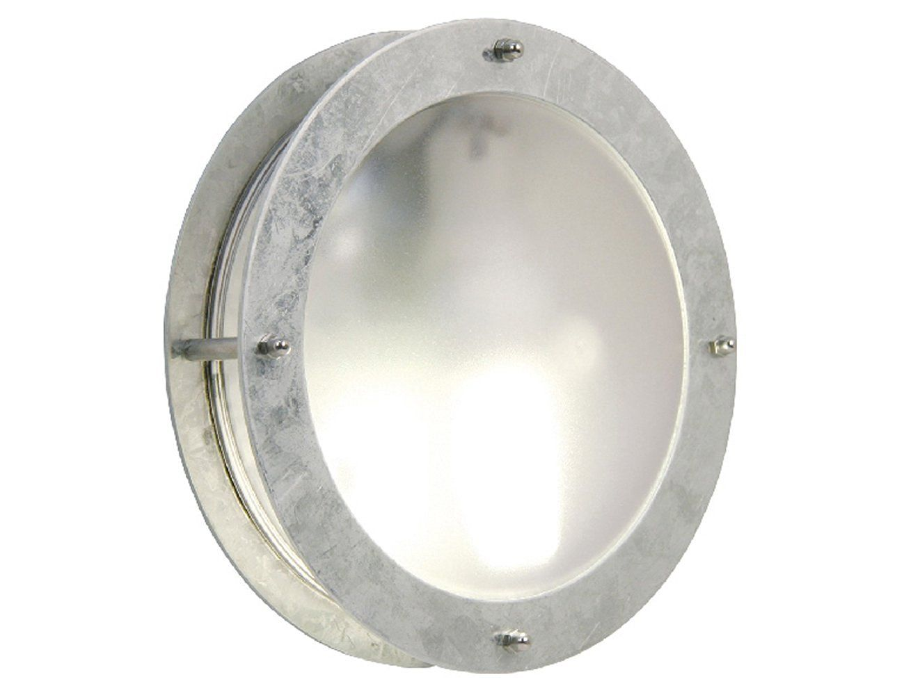 Nordlux malte outdoor galvanized steel round wall light with port