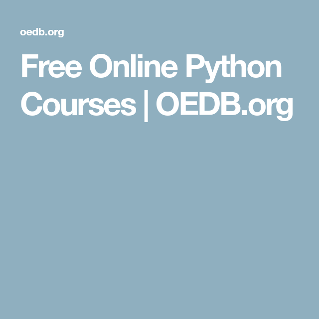 Free Online Python Courses Free online classes, Online