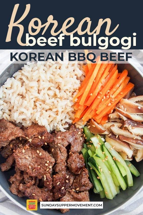 Korean Beef Bulgogi Bowls | Recipe | Bulgogi beef, Beef ...