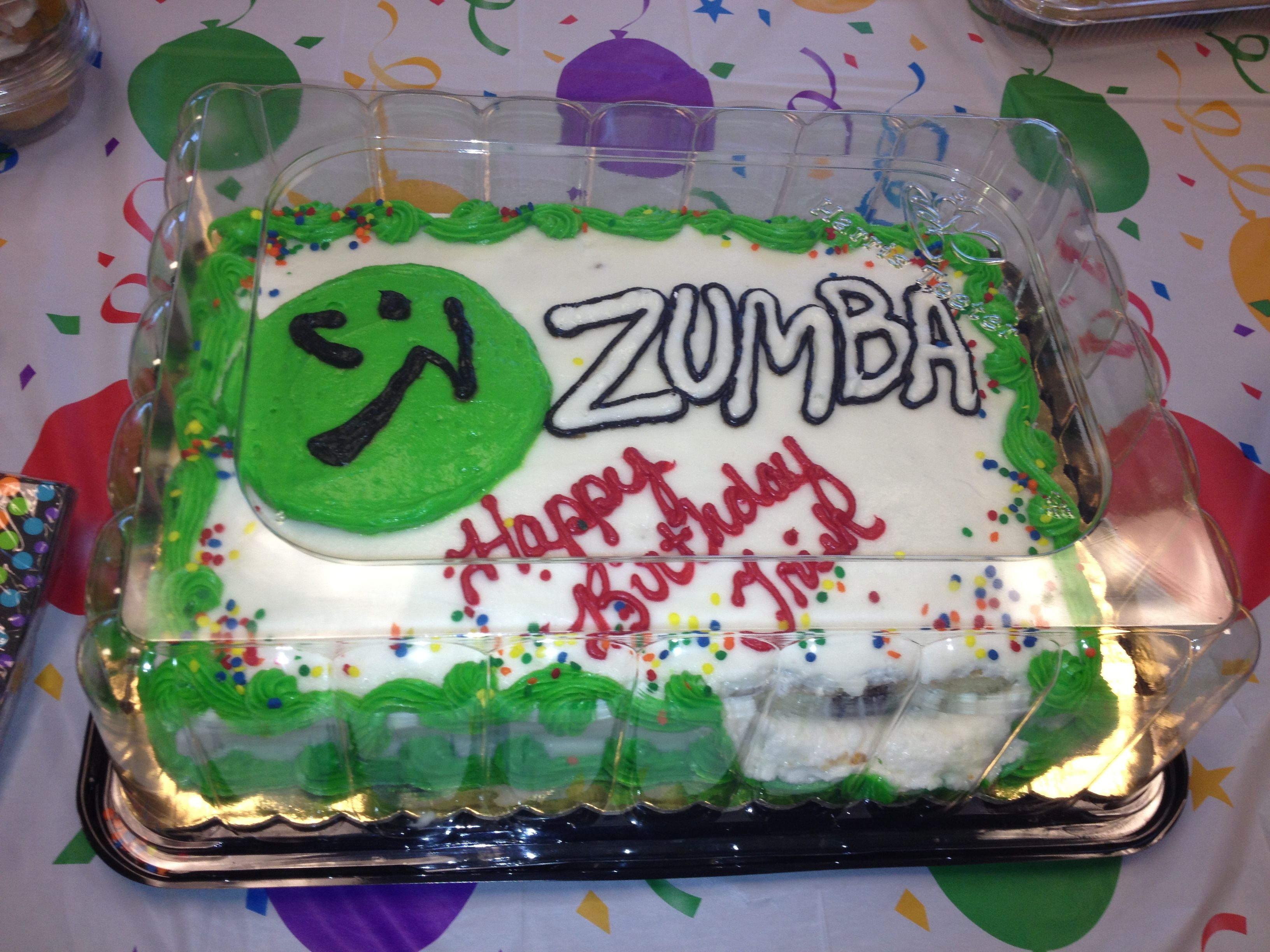 Zumba Birthday Cake Zumba Pinterest Birthday Cakes And