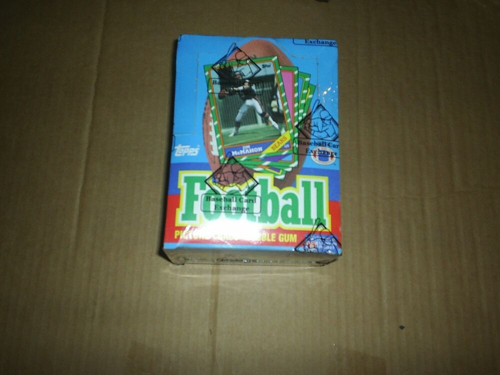 1986 topps football wax box complete bbce authenticated