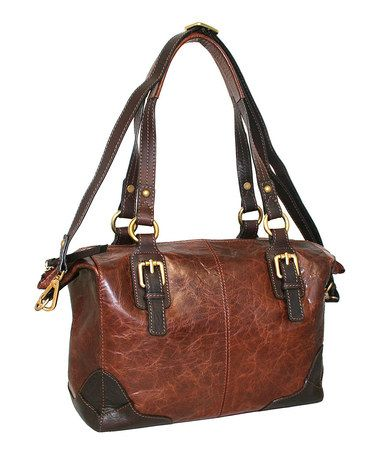 Chestnut Textured Soho Leather Hobo by Nino Bossi Handbags #zulily #zulilyfinds