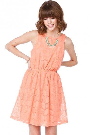 Maureen Cinch Dress in Peach