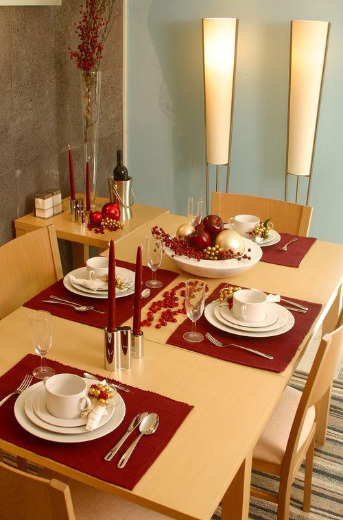 Mesa de Navidad minimalista - Decoración de mesas ...