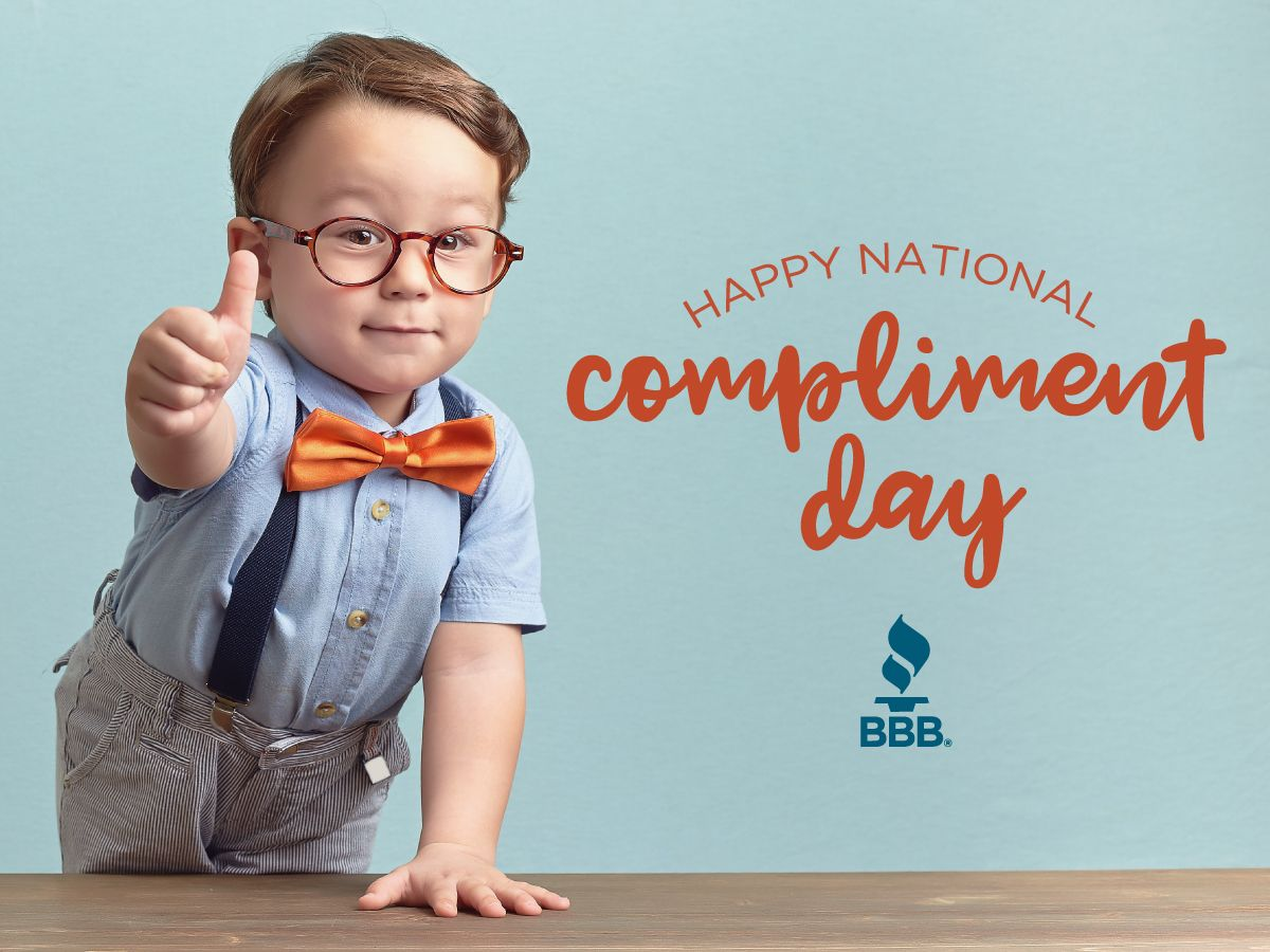 Be sure to celebrate national compliment day by saying