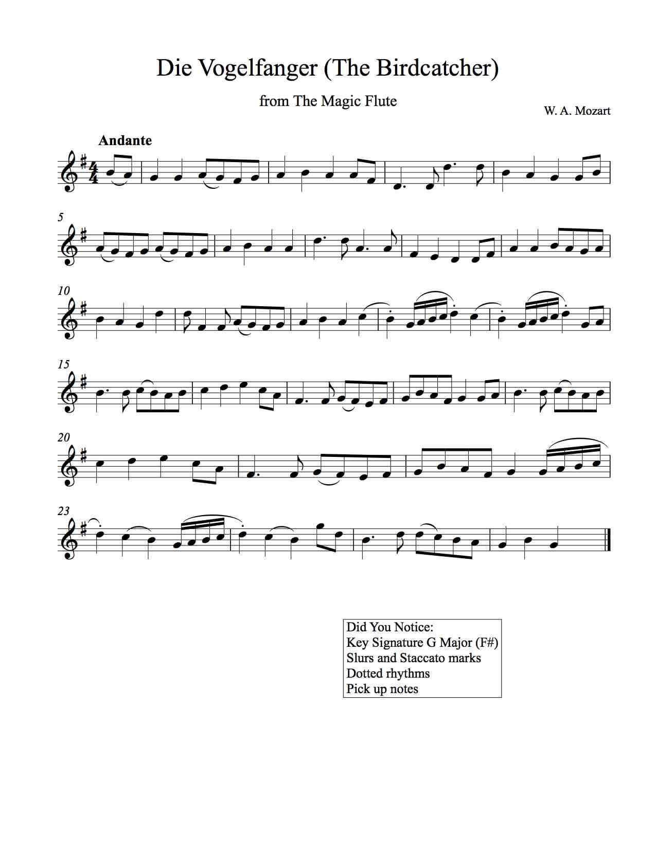 Magic Flute For Soprano Recorder